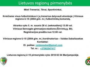 U-15 Regionų atranka